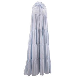 Lisa Marie Fernandez blue chambray maxi dress