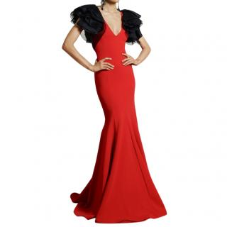 Ralph Lauren Collection Red Couture Gown