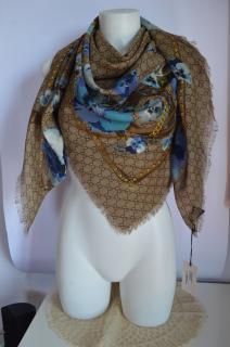 Gucci Oshibana scarf new