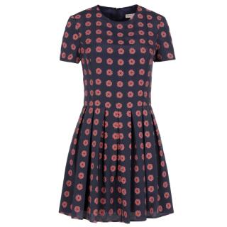 Open ceremony rose print mini dress