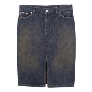 Gucci denim washed skirt