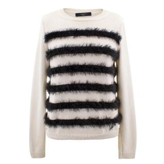 MaxMara Weekend off white cotton sweater
