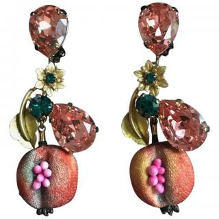 Dolce & Gabbana fruit crystals earrings