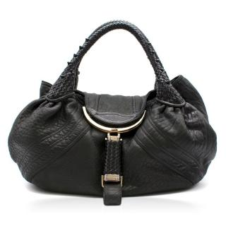 Fendi Black Leather Spy Bag