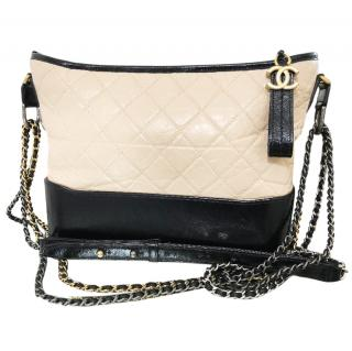 Chanel Black and Beige Gabrielle Bag