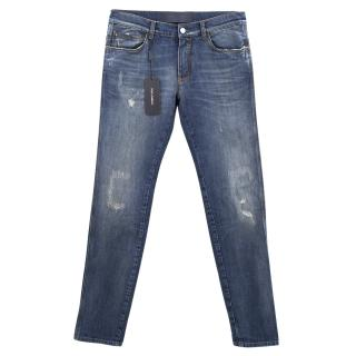 Dolce & Gabbana denim washed ripped jeans