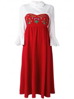 VIVETTA �Dalia red wool-blend midi dress.