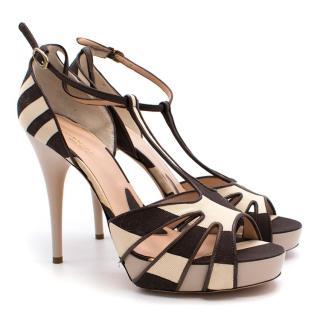 Alessandro Dell'Acqua Brown and Cream Heels