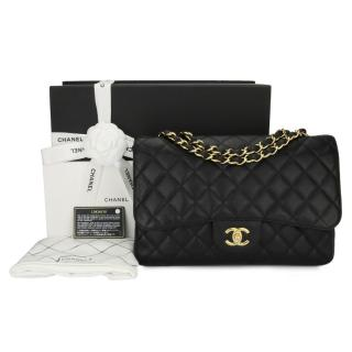 Chanel Single Flap Jumbo Black Caviar