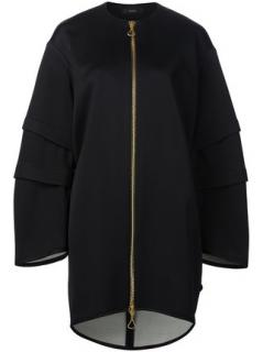 Ellery Black satin oversized coat