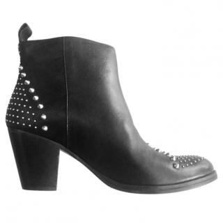 Sandro Western Studded Ankle Boot