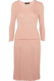 Sonia Rykiel Pink Ribbed-knit Dress