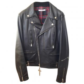 Givenchy runway black leather biker style jacket