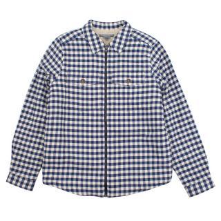 Bonpoint navy cotton checked jacket