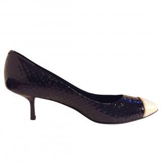 Guiseppe Zanotti Black Patent Heel Shoes (37.5 - 38)