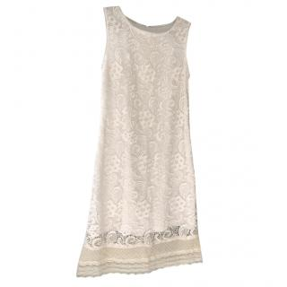 Elie Tahari white lace dress, UK 10