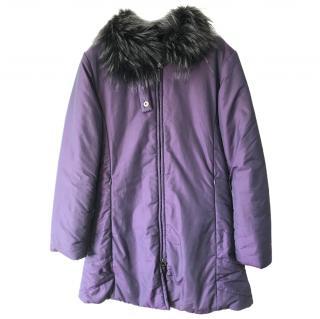 Les Copains Down Fox Collar Coat