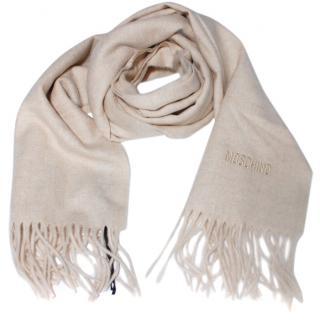Moschino Beige Wool  Scarf
