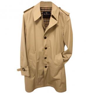 Aquascutum Coleridge Trench Coat in Stone Size 42 Regular