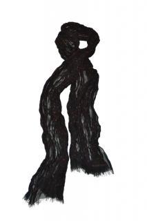 Bottega Veneta runway black polka dot pleated silk scarf