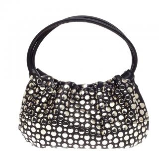 Sonia Rykiel Domino black leather studded bag