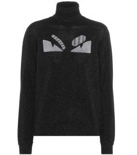 FENDI Fendi Metallic wool blend turtleneck sweater