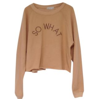 WildFox Sweatshirt 'So What' Embroidery L