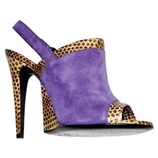 Bottega Veneta purple suede high heels