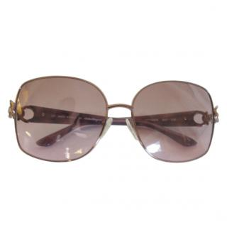 SALVATORE FERRAGAMO Rose Gold Sunglasses