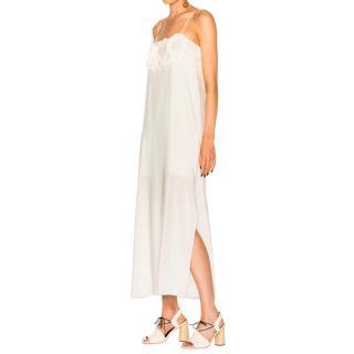 SEE BY CHLOE Spaghetti Strap Dress Natural White