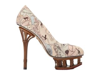 Charlotte Olympia Rattan Dolly - Map print Pumps