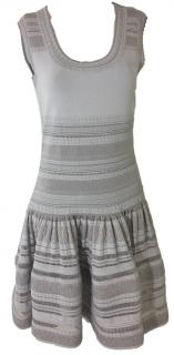 Alaia Pale Grey Fit And Flare Dress