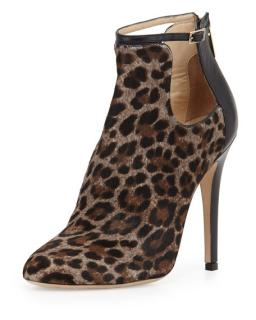 Jimmy Choo Luther Leopard print calf hair cutout bootie