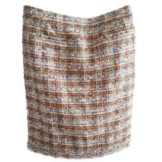 Chanel multi colour tweed skirt