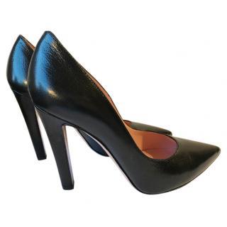 Studio Pollini Black Leather Stilettos