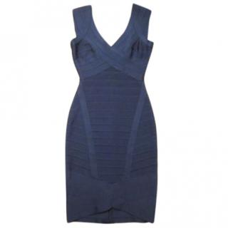 Herve Leger Blue Nicolette Dress