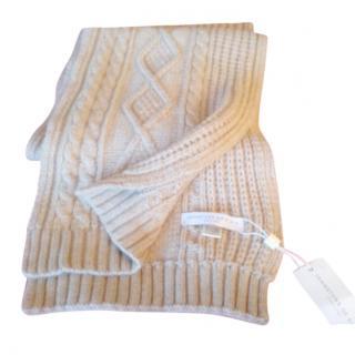 Johnstones of Elgin cashmere knit scarf