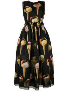 Dolce and Gabbana Ice cream print tea dress