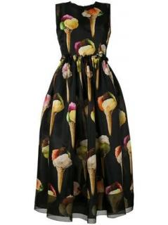 Dolce and Gabbana Ice cream print tea dress