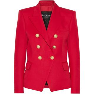 Balmain red double breasted Blazer