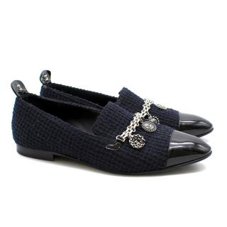 Chanel Tweed Chain Loafers