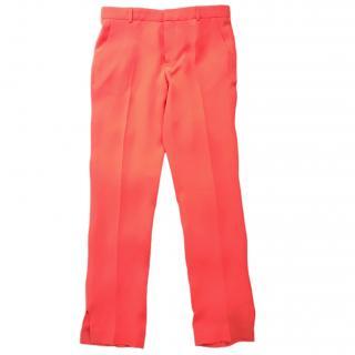 Joseph red silk trousers