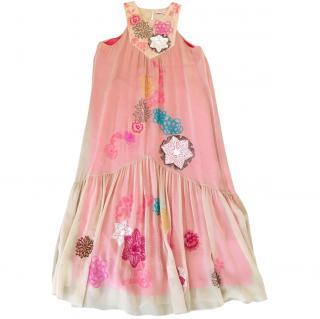 Matthew Williamson pink embellished dress