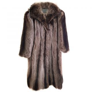 A Del Rio Blue groundhog fur coat