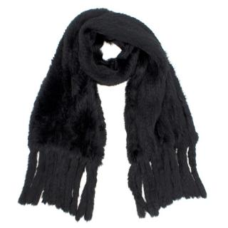 Bespoke Black Fox Fur Scarf