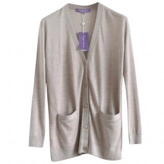 Ralph Lauren Collection beige cashmere cardigan