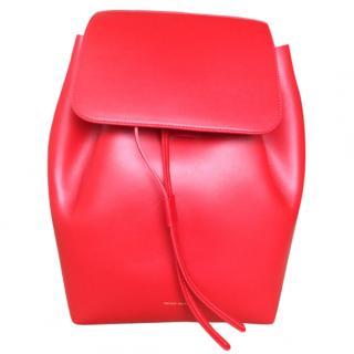 Mansur Gabriel  Red Leather  backpack