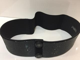Blumarine Snakeskin Effect Black Belt