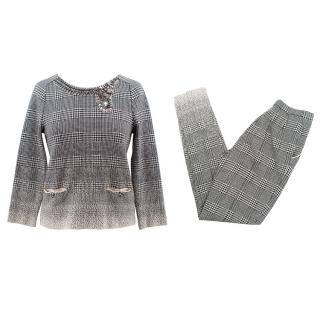 Ermanno Scervino Embellished Houndstooth Suit
