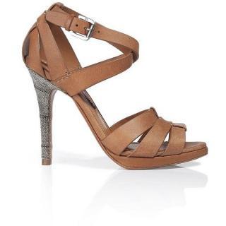 6d7941c67048b2 Ralph Lauren Collection Women s Natural Jarie Chain Heel Sandal